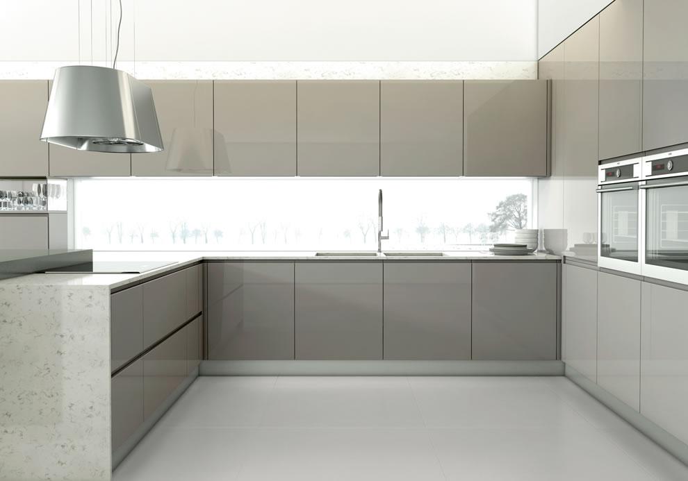 LIVINCASA  Soluções Perfeitas # Armario De Cozinha Cinza E Branco